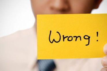 Admita que está errado!!!
